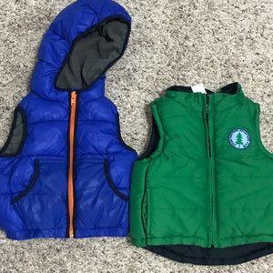 Puffer Vest Bundle, Gap & Gymboree 6-12 months